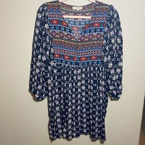 Umgee Plus Size Tunic Mini Dress Size 1XL